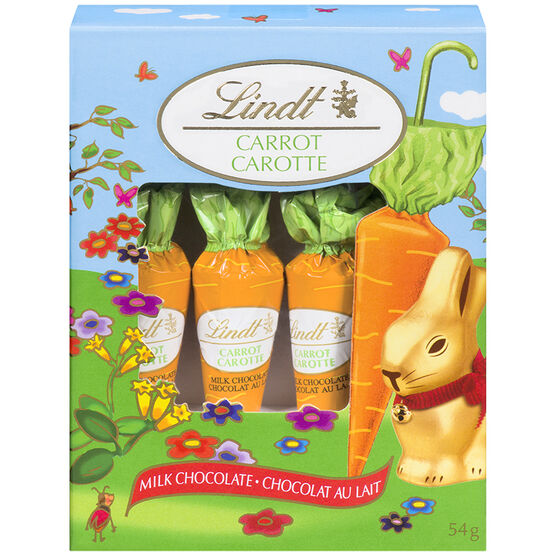 Lindt Chocolate Carrots - Milk Chocolate - 4 pack/54g