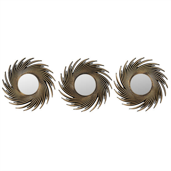 London Drugs Wall Mirror - Spiral - Set of 3