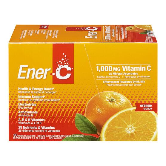 Ener-C Vitamin C Powered Drink Mix - 1000mg - Orange - 30's