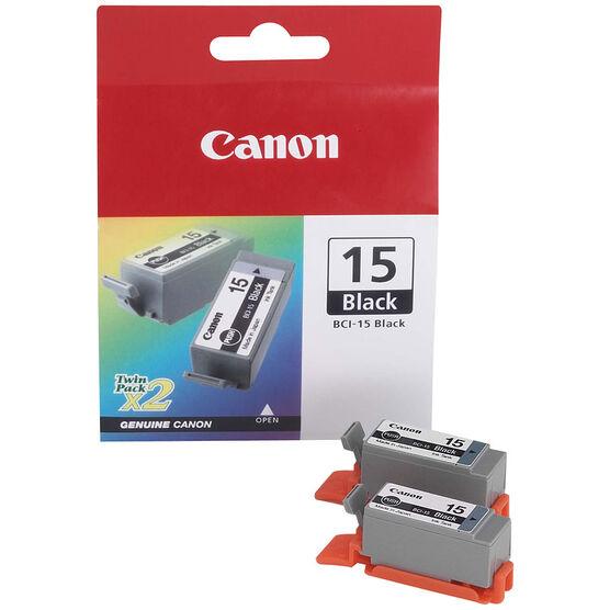 Canon BCI-15 Ink Cartridge - 2 Tanks - Black - 8190A003