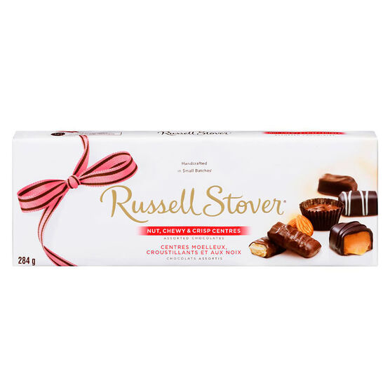 Russell Stover Nut Chewy & Crisp Centres Chocolate Box - 284g