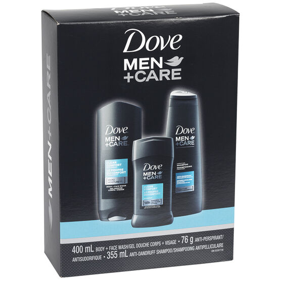 Dove Men+Care Clean Comfort Gift Pack - 3 piece