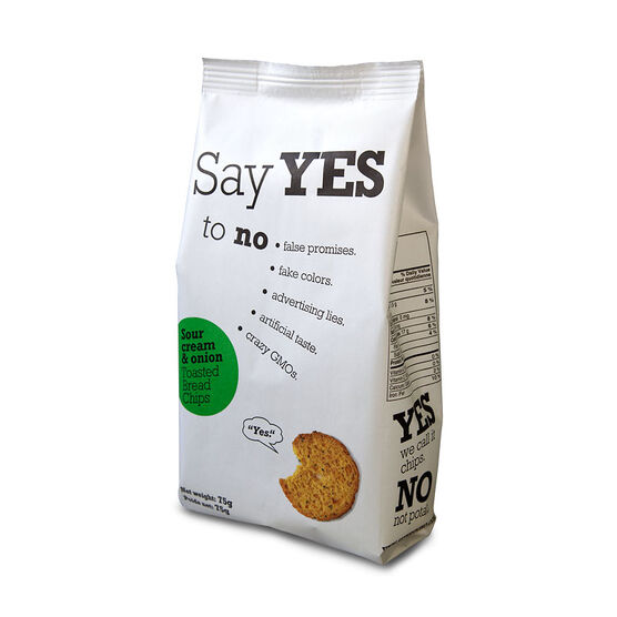 Say Yes Toasted Bread Chips - Sour Cream & Onion - 75g