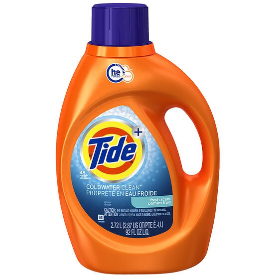Tide Liquid HE Cold Water Laundry Detergent - Fresh Scent - 2.72L
