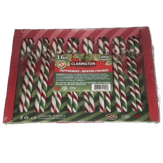 Clarington Peppermint Candy Canes - 200g