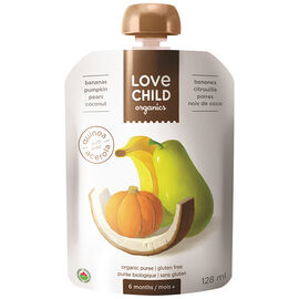 Love Child Banana, Pumpkin, Pear and Coconut - 128ml