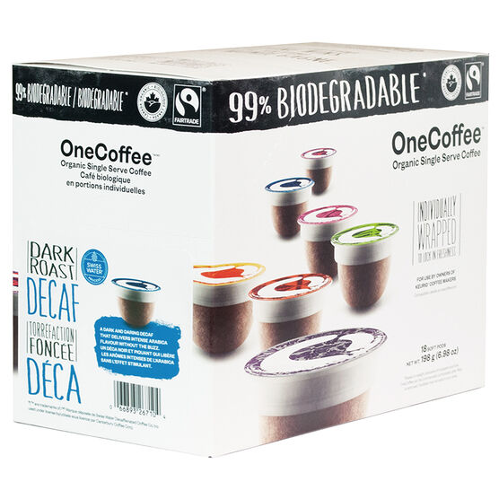 OneCoffee Single Use Soft Pods - Decaf - 18's