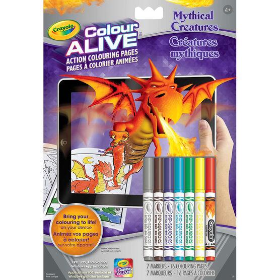Crayola Colour Alive Colouring Book - Mythical Creatures