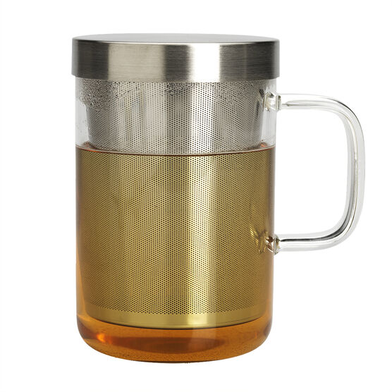 London Drugs Glass and Stainless Cup - 500ml