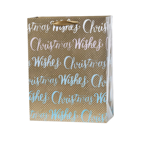 Plus Mark Christmas Wishes Gift Bag - Large - 052045LDT
