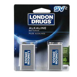 London Drugs 9V Alkaline Batteries - 2 pack