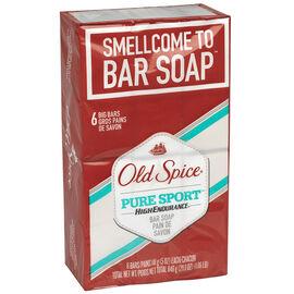 Old Spice High Endurance Bar Soap - Pure Sport - 6x113g