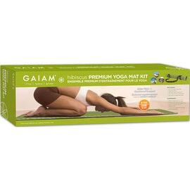Gaiam hibiscus Premium Yoga Mat Kit - DVD