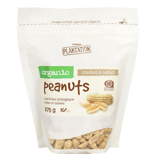 London Plantation Organic Peanuts - Roasted & Salted - 275g