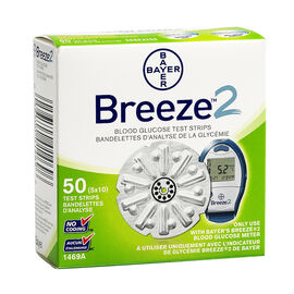 Bayer Ascensia Breeze 2 Blood Glucose Test Strips - 50's