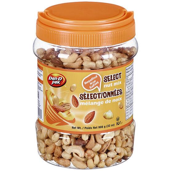 Dan-D-Pak Select Nut Mix - Unsalted - 908g