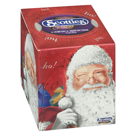 Scotties Supreme Facial Tissues Holiday Cubes - Assorted - 65's