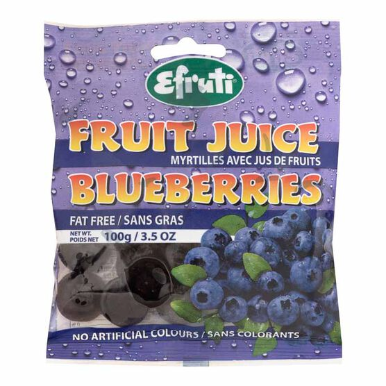 Efruti Gummi-Sweets Fruit Juice Blueberries - 100g