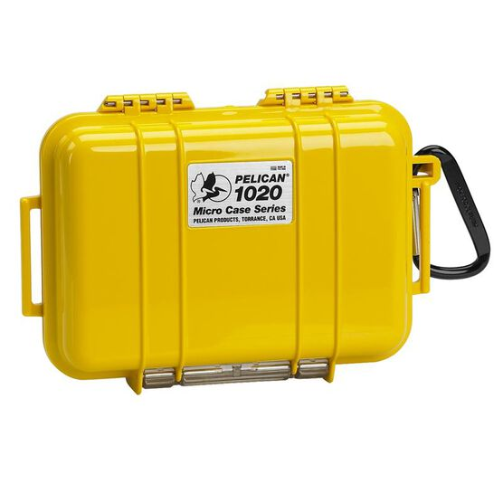 Pelican 1020 Micro Case Solid Dry Box - Yellow