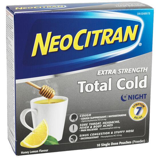 NeoCitran Total Cold Night - Honey Lemon - 10's