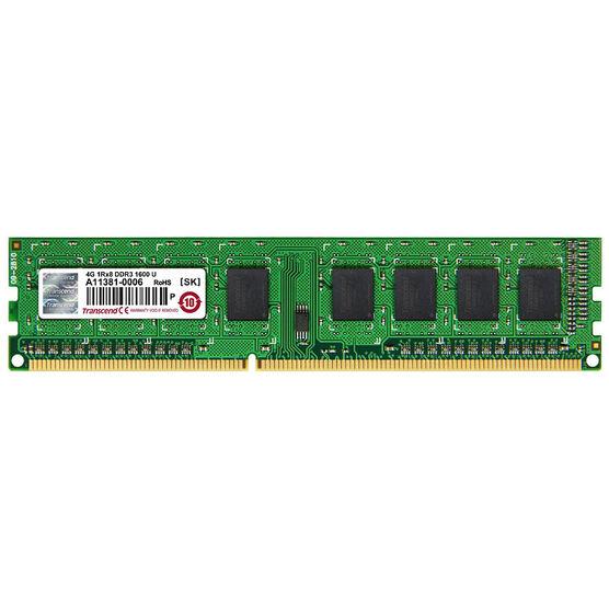 Transcend 4G DDR3-1600 U-DIMM 1Rx8 - JM1600KLH-4G