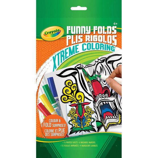 Crayola Xtreme Colouring Funny Folds