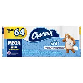 Charmin Ultra Soft Bathroom Tissue Mega Roll - 16's