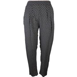 Lava Mini Diamond Print Pants - Black