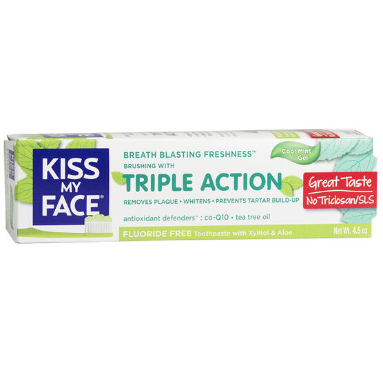 Kiss My Face Triple Action Toothpaste - 127.6g
