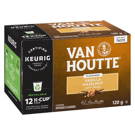 K-Cup Van Houtte Light Roast Coffee - Vanilla Hazelnut - 12 Servings