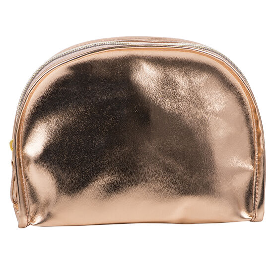 Modella Round Top Cosmetic Bag - Rose Gold - A006803LDC