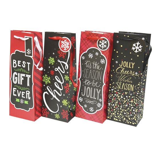 Christmas Bottle Bag - Assorted