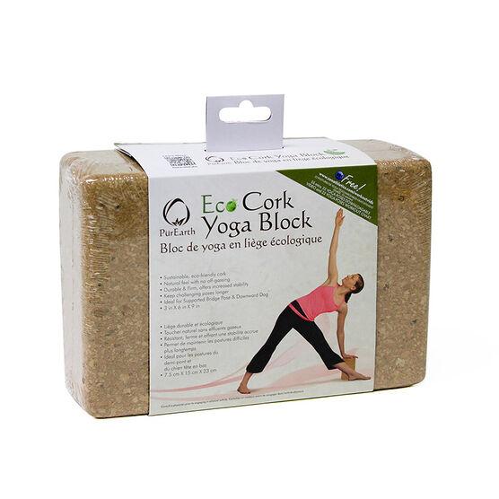PurEarth Cork Yoga Block