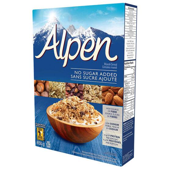 Weetabix Alpen Muesli - No Sugar Added - 650g