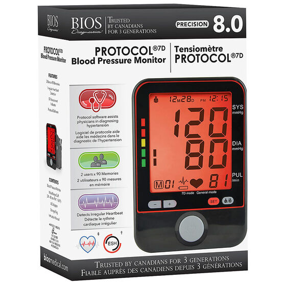 BIOS Protocol 7D Blood Pressure Monitor - BD240