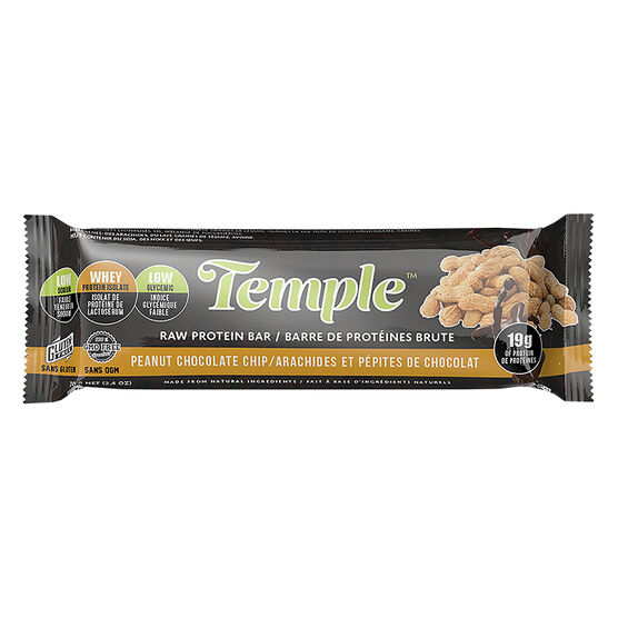 Temple Raw Protein Bar - Peanut Chocolate Chip - 70g