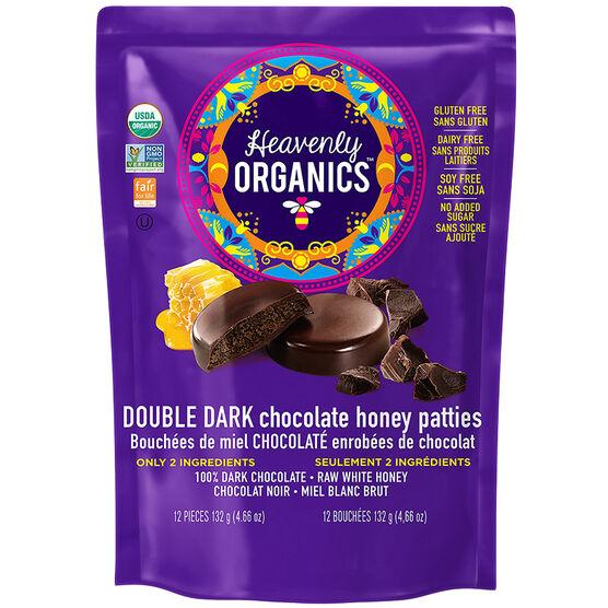 Heavenly Organics Chocolate Honey Patties - Double Dark - 132g