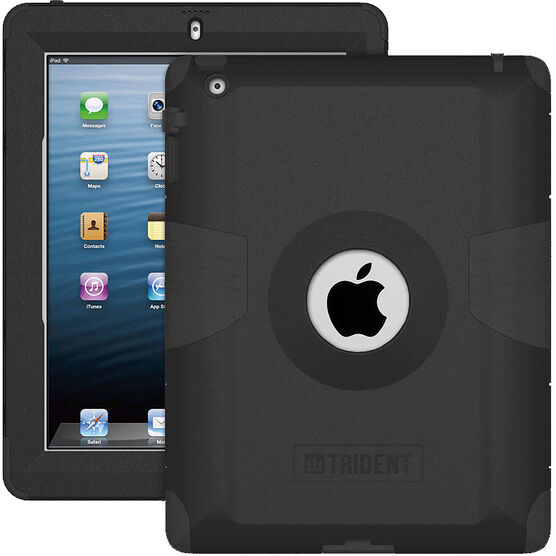 Trident Kraken Case for iPad 1, 2, 3 - Black - AMS-NEW-IPADUS-BK