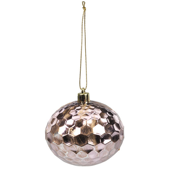 Christmas Honeycomb Onion Ornament - Pink - 8cm