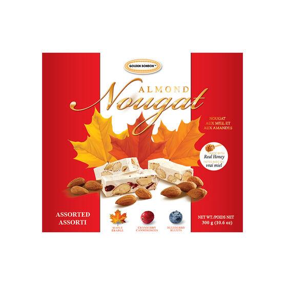 Golden Bonbon Almond Nougat - Assorted - 300g