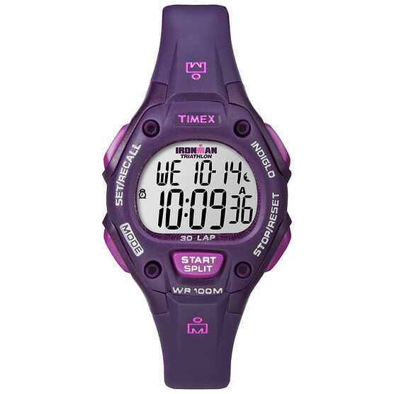 Timex Ironman Watch - Purple - T5K756GP