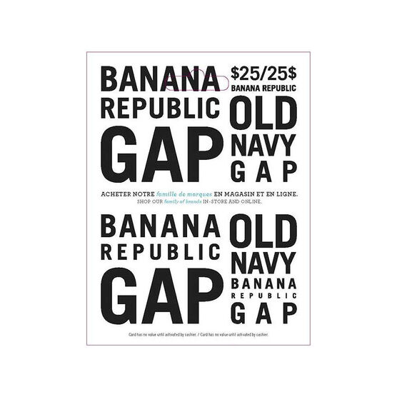 Gap Options Gift Card - $25