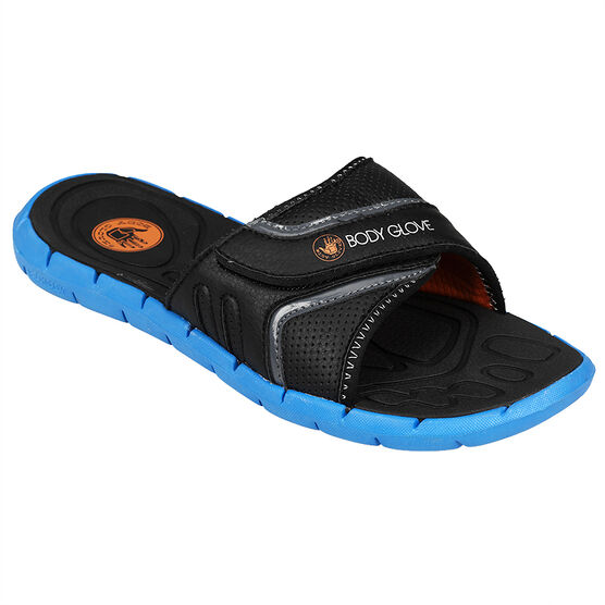 Body Glove Men's Strapped Sandal - Black/Blue - Size 7-13