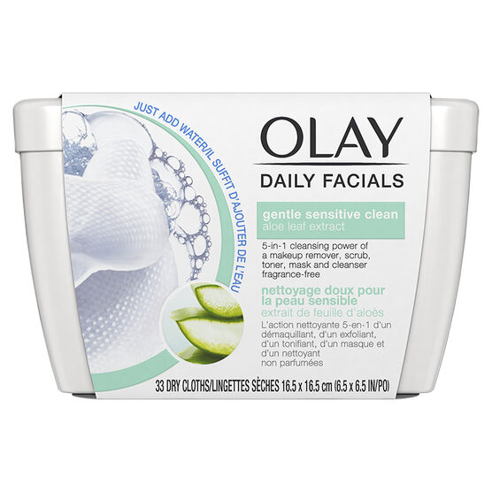 Olay Daily Facials Dry Cloths - Gentle Sensitive Clean - 33's