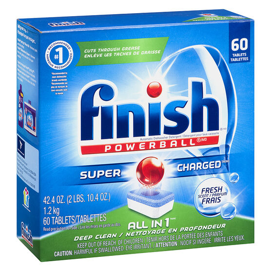 Finish Powerball All-in-One Dishwasher Detergent - Fresh - 60 tablets