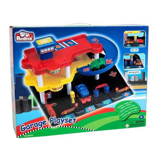 Red Box Garage Playset