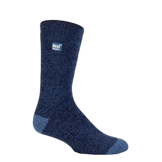 Heat Holders Men's Lite Twist Crew Sock - Denim/Navy