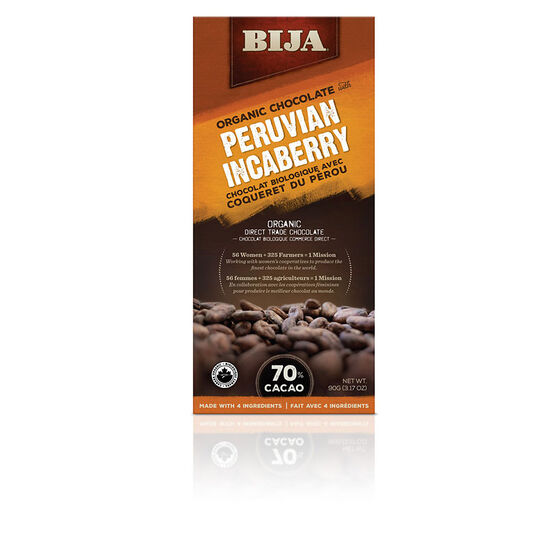 Bija Organic Chocolate - Peruvian Incaberry - 90g