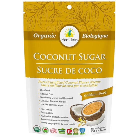 Ecoidea`s Organic Coconut Sugar - Golden - 454g