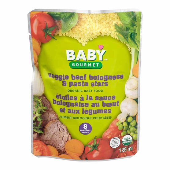 Baby Gourmet Pasta Step 3 - Veggie Beef Bolognese and Pasta Stars - 128ml
